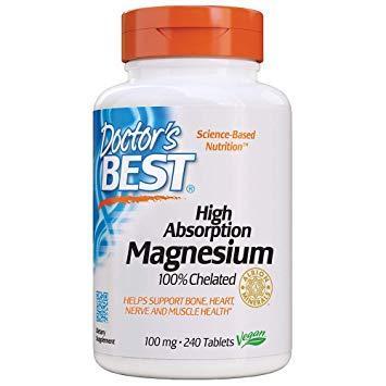 Витамины Doctor's BEST Magnesium High Absorption 100 mg 240 tabs