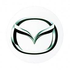 Хромированные накладки под ручки дверей для Mazda