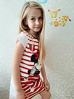 Ночная рубашка для девочки хлопковая Франция р.98,104,116,128