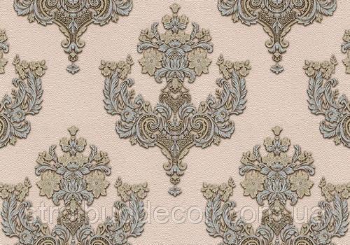 Обои Lanita виниловые на флизелиновой основе ДХV 1128-2 Шардоне декор (пудрово-серебристо-золотой) Винил (1,06