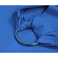 Слинг с кольцами синий Малышастик (лен с хлопком)