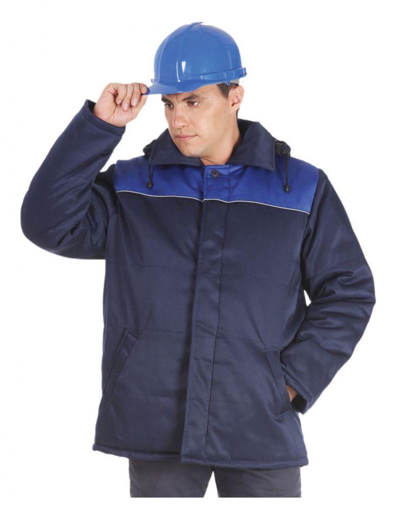 Утеплена комбінована куртка зі світловідбиваючим кантом
