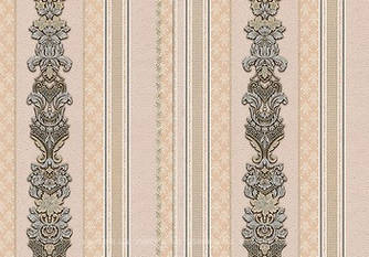 Шпалери Lanita вінілові на флізеліновій основі метровы Шардоне смуга (пудрово-сріблисто-золотий) Вініл (1,06
