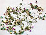 Стрази Swarovski мікс різні розміри і форми + формочки різних форм (1400 шт) АВ , зелені і лілові., фото 5