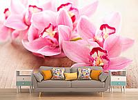 Глянцевые фотообои орхидея разные текстуры , индивидуальный размер