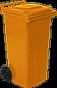 Набор мусорных контейнеров Алеана 540 х 950 х 480 мм на колесах с ручкой 120 л Оранжевый, фото 2