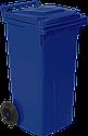 Набор мусорных контейнеров Алеана 540 х 950 х 480 мм на колесах с ручкой 120 л Синий, фото 2