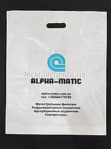 Пакет с вырубной ручкой 300х400, 50 мкм печать 1 цвет