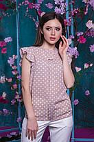 Блуза горошек с рюшами, фото 3