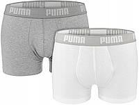 Мужские трусы-боксеры Puma Basic (ОРИГИНАЛ) White/Grey (Размер XL) 2 шт., фото 1