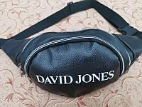 Женская поясная сумка экокожа в стиле David Jones чёрная