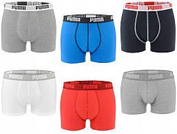 Мужские трусы-боксеры Puma Basic Boxer (ОРИГИНАЛ) 2 шт. Разные цвета