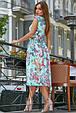 Красивое  летнее  платье 3574 голубой, фото 2