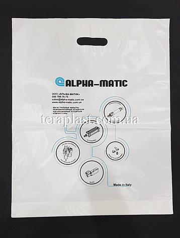 Пакет с вырубной ручкой 300х400, 50 мкм печать 1 цвет, фото 2