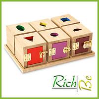 Кубики Монтессори детские развизвающие игрушки из дерева