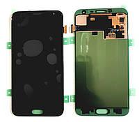 Дисплей для Samsung J400F Galaxy J4 (2018) с тачскрином черный, Оригинал Amoled