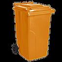 Набор мусорных контейнеров Алеана 720 х 1050 х 590 мм на колесах с ручкой 240 л Разноцветный (240зос), фото 2