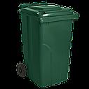 Набор мусорных контейнеров Алеана 720 х 1050 х 590 мм на колесах с ручкой 240 л Разноцветный (240зос), фото 4