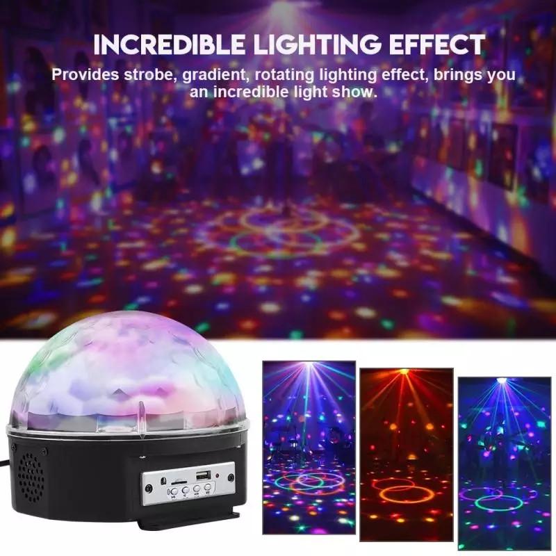 Светомузыка диско шар LED Ball Light с MP3 +пульт+флешка