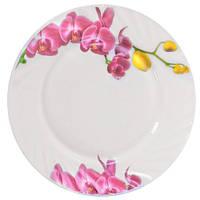 Набор тарелок для кухни Stenson Орхидея 22.9 см 6 шт (MS-1731-0876)