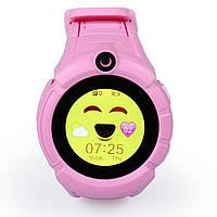 Детские умные часы Q 610S с LED фонариком Розовые