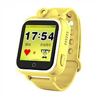 Детские умные часы Q200. (3G+GPS+камера 2.0 мП).   Желтые