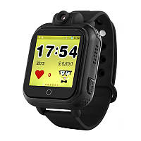 Детские умные часы Q200. (3G+GPS+камера 2.0 мП).   Черные