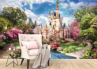 Глянцевые фотообои детские сказочный замок  разные текстуры , индивидуальный размер