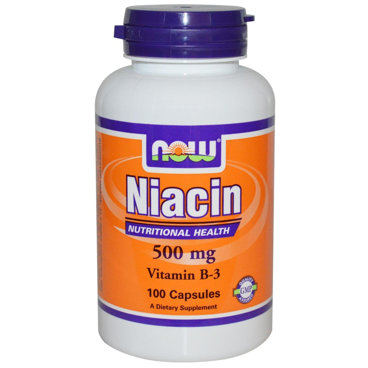 Niacin 500 mg (100 caps) NOW