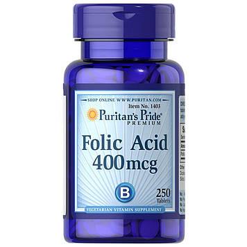 Фолиевая кислота Folic Acid 400 mcg (250 tablet) Puritan's Pride