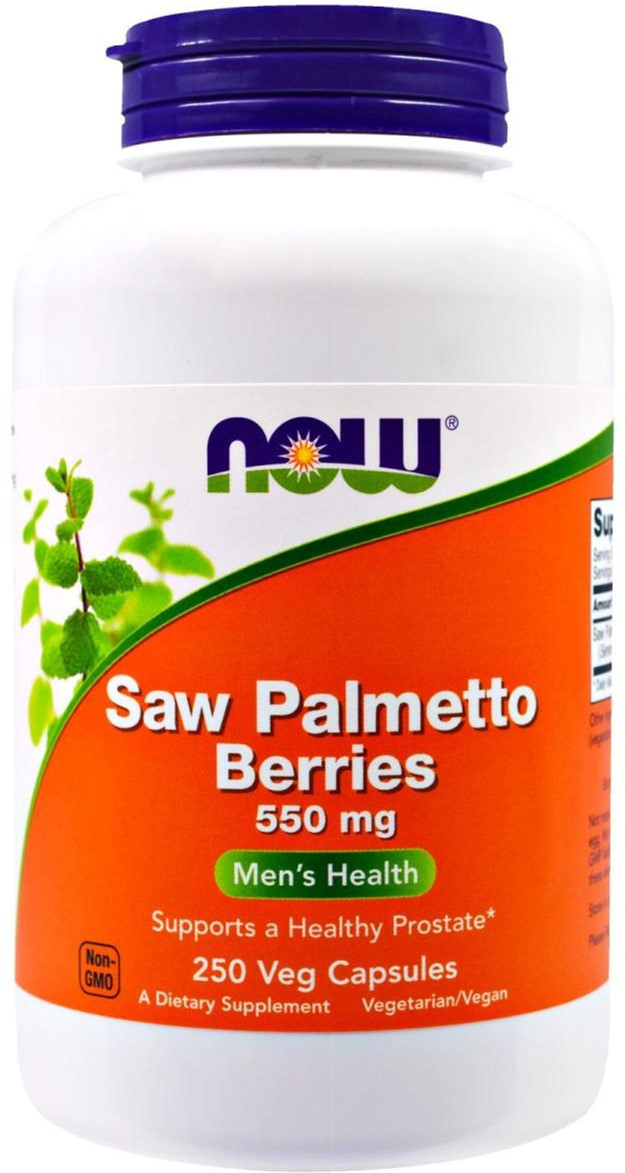 Saw Palmetto Berries 550 mg (100 caps) NOW