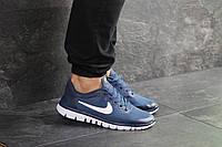 Мужские кроссовки синие с белым Nike Free Run 3.0 8066