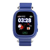 Детские Часы Q100 с GPS Треккером и Телефоном. Оригинал! 740 грн. Темно-синий