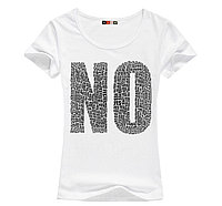 Стильная женская футболка с принтом NO