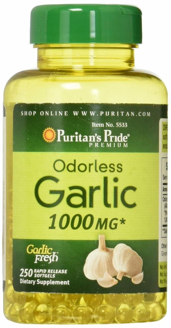 Odorless Garlic 1000 mg (250 softgels) Puritan's Pride