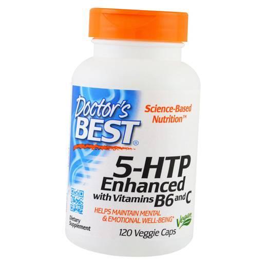 Витамины Doctor's Best 5-HTP Enhanced with Vitamins B6 and C 120 вег. капс