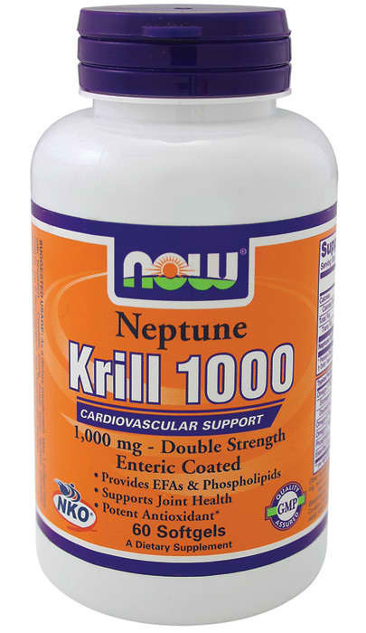 Krill Oil 1000 double strength (60 softgels) NOW
