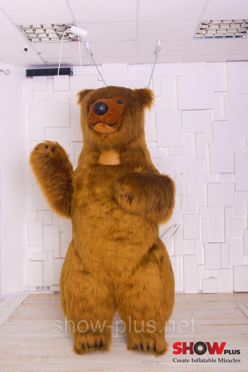 Надувной Костюм ( Пневмокостюм, Пневморобот ) Бурый Медведь с длинным мехом ( мини )