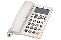 680051628714 Проводной телефон 2E AP-410 Beige White, 680051628714