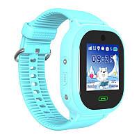 Детские часы Q 400 (DS05) с GPS трекером водонепроницаемые, ОРИГИНАЛ!  Голубые