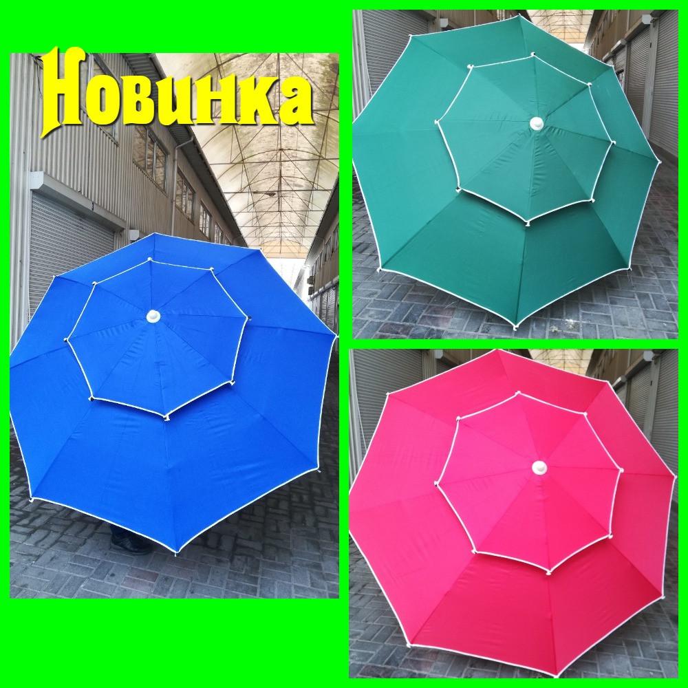 Зонт 2.5 м (брезентовый) с двойным куполом