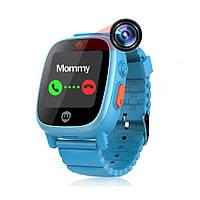 Детские умные часы с 2 камерами, Umeox w668 (аналог FixiTime 3 elari)  Голубые