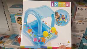 Надувной плот Intex 56581 с навесом Голубой, фото 2