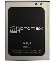 Аккумулятор Micromax A104. Батарея Micromax A104 (2000 mAh) для A104 Canvas Fire 2. Original АКБ (новая)