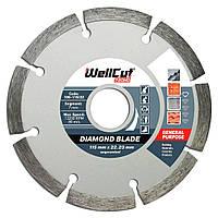 Диск отрезной алмазный для болгарки 115х7х22,23 Wellcut Promo