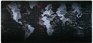 Коврик для мыши 70 см х 30 см - Карта мира.