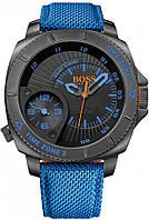 Наручные часы NIB HUGO BOSS Orange Series Black Dial Blue Nylon Strap Men's Watch 1513209