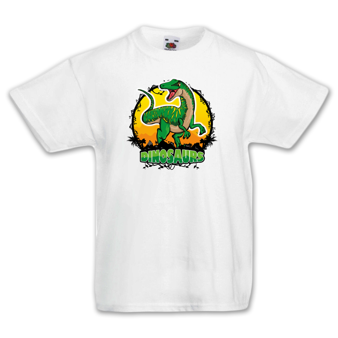 """Футболка детская с динозавром  """"Раптор"""""""