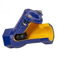 """Клапан зворотний каналізаційний 2"""" під насоси для стічних і дренажних вод, повнопрохідний з гумовим кулею"""