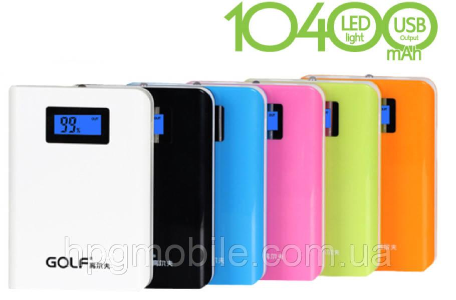 Внешний аккумулятор Golf Power Bank GF-LCD01 10400 mAh